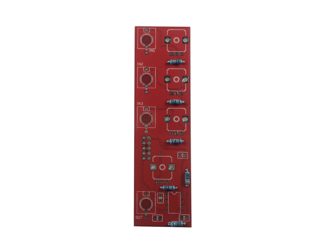 Diy Synthesizer Mixer Module Build Guide Ai Synthesis How To Solder A Resistor On Printed Circuit Board Pcb Youtube Step One Resistors